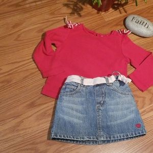 Gap skirt 2 an gymboree top 2